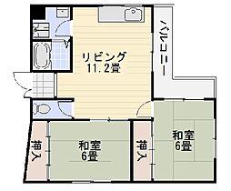 シャングリラ深井[305号室]の間取り