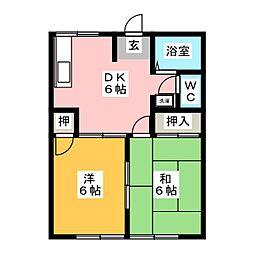 コーポ佐藤[1階]の間取り