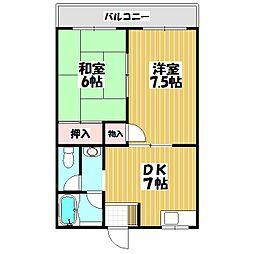 エトワールSEIWA[205号室]の間取り
