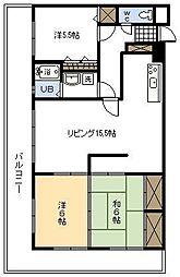 コアマンション江平[99号室]の間取り