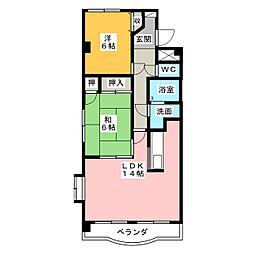エクセレンスローベン[4階]の間取り
