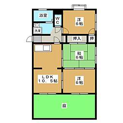 リバーサイドマンション[1階]の間取り