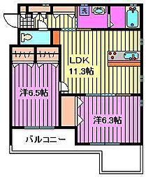 casa felice[102号室]の間取り