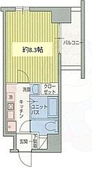 ハーバーハウス大阪 4階1Kの間取り