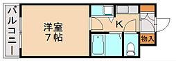 クレール寺塚[4階]の間取り