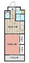 ニューシティアパートメンツ南小倉II[604号室]の間取り
