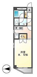 愛知県名古屋市千種区橋本町3の賃貸マンションの間取り