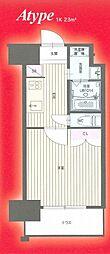 福岡市地下鉄七隈線 渡辺通駅 徒歩11分の賃貸マンション 9階1Kの間取り
