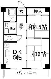 住吉南マンション[3階]の間取り
