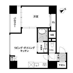 アイコート松が谷[5階]の間取り