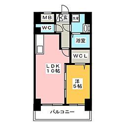 F・STAGE博多駅南[4階]の間取り