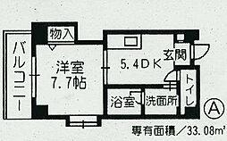 ルミエール堺町[401号室]の間取り