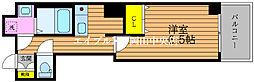 ラウレアM&F 4階1Kの間取り
