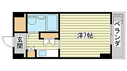飾磨中村コーポ[2階]の間取り