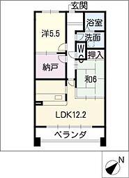 YGMマンション上小田井[3階]の間取り