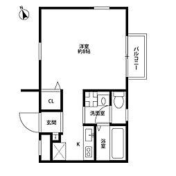 AmourシュシュII[2階]の間取り