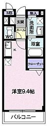 JR奥羽本線 蔵王駅 徒歩24分の賃貸アパート 2階1Kの間取り