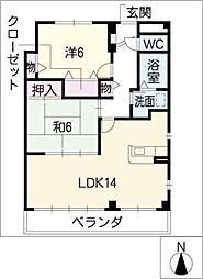 ウエルスクレイン[3階]の間取り
