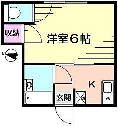 パオ瀬戸ヶ谷[2階]の間取り