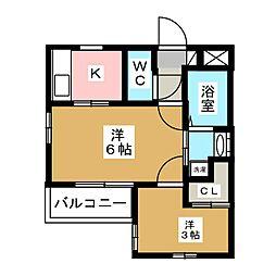 マンションRYO[2階]の間取り