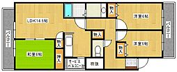 エトワール大善寺[5階]の間取り