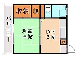 三角ビル[7階]の間取り