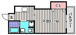 シュクル堺[4階]の間取り