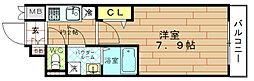 レジュールアッシュ福島FINO[3階]の間取り