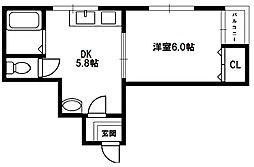 サンライフ菅原[3階]の間取り