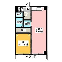 KAGUYAHIME[3階]の間取り