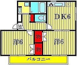 ドミール金町[3階]の間取り