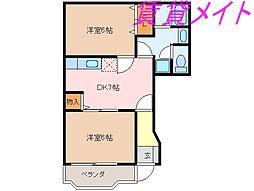 デュエットA・B棟[1階]の間取り