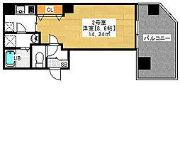金太郎ヒルズ243 松ケ谷 7階1Kの間取り
