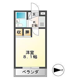 甚八ビル[5階]の間取り
