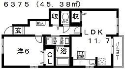 ルミエール[105号室号室]の間取り