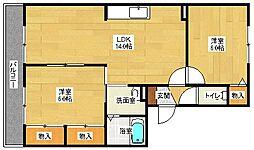 ハイカムール山田[2階]の間取り