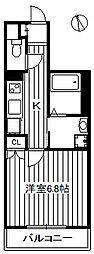 東武東上線 東武練馬駅 徒歩9分の賃貸マンション 1階1Kの間取り