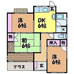 [一戸建] 愛媛県松山市立花6丁目 の賃貸【/】の間取り