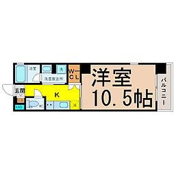 HIBINO RISE(日比野ライズ)[3階]の間取り