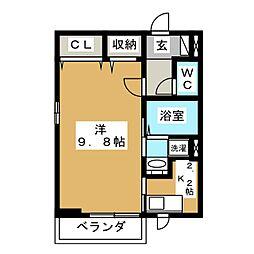 ミーテ・ソーレ[1階]の間取り