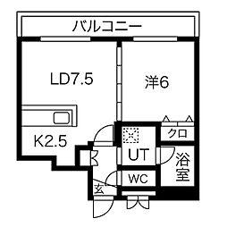 S-RESIDENCE桑園 4階1LDKの間取り