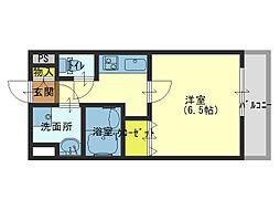Osaka Metro千日前線 北巽駅 徒歩5分の賃貸マンション 3階1Kの間取り