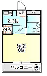 メゾン幸田門[302号室]の間取り
