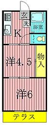 木所荘[203号室]の間取り