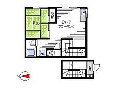 リッツハウスA[201号室]の間取り