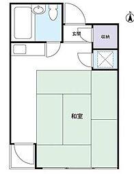 中山ファームアパートメント南棟bt[303号室]の間取り