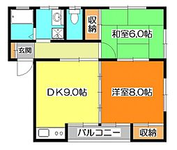 コーポ・ユートピア[2階]の間取り