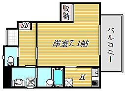 東京都墨田区立花2丁目の賃貸アパートの間取り