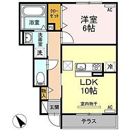 D-room刈谷市小垣江[101号室]の間取り