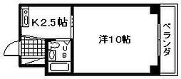メゾン・ベルレディー[301号室]の間取り